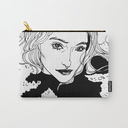Woman in her bubble bath Carry-All Pouch