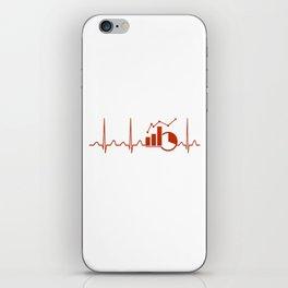 Economics Teacher Heartbeat iPhone Skin