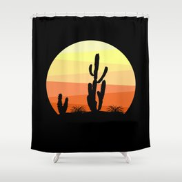 Mexican desert Shower Curtain