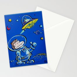 Space Ape Thumbs a Ride Stationery Cards