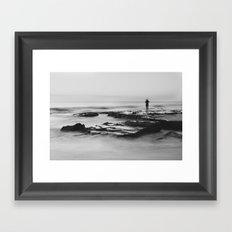 Cottesloe Fisherman Framed Art Print