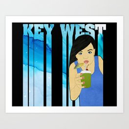Drink Up in Key West Art Print