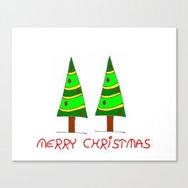 Christmas tree-pine,Yule-tree,Christmas,garlands,baubles,tinsel,evergreen,Star of Bethlehem, family Canvas Print