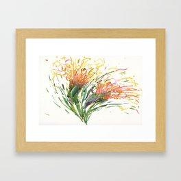 Flower Symphony-Cactus Bloom Framed Art Print