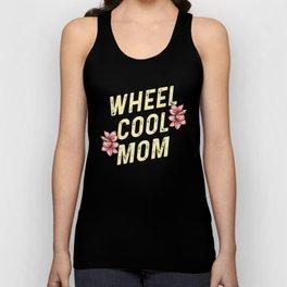 Wheel Cool Mom - Funny Bike Cyclist Mama Pun Unisex Tank Top