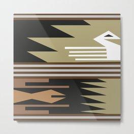 American Native Pattern No. 261 Metal Print