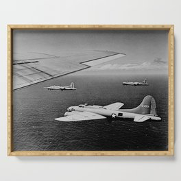 B-17F Flying Fortress Bombers over the Southwest Pacific Serving Tray