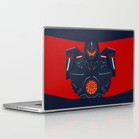 pacific rim Laptop & iPad Skins featuring Pacific Rim - Gipsy Danger - Minimal Poster by John Takacs