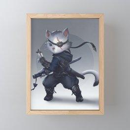 Ninja cat Framed Mini Art Print