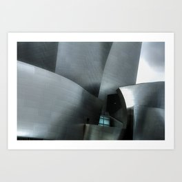 Abstract Walt Disney Concert Hall Art Print