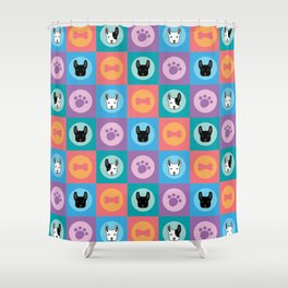 Frenchies Shower Curtain