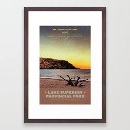 Lake Superior Provincial Park Framed Art Print