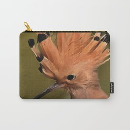 Beautiful Hoopoe Bird With Crown Of Feathers Carry-All Pouch