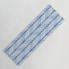 Shibori Herringbone Pattern Yoga Mat