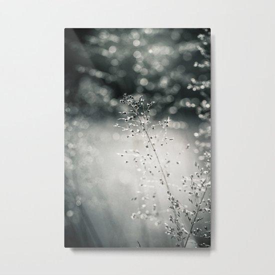 silver rain Metal Print