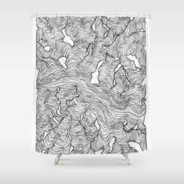 Enveloping Lines Shower Curtain