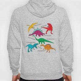 Dinosaur Print - Colors Hoody