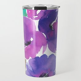 Purple Floral Divinity Travel Mug