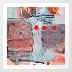 grey red 2 Art Print