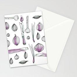 Onion harvest Stationery Cards