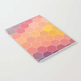 COLORFUL RETRO HEXAGONS HONEYCOMB Notebook