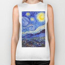 "Vincent Van Gogh "" Starry Night "" Biker Tank"