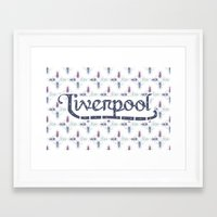 liverpool Framed Art Prints featuring Liverpool  by Cory Wilcox