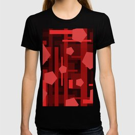 Red Rectangles with Pentagons T-shirt