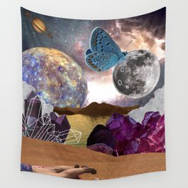 Tanning on Mars Wall Tapestry