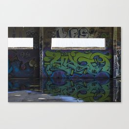 graffiti reflection Canvas Print