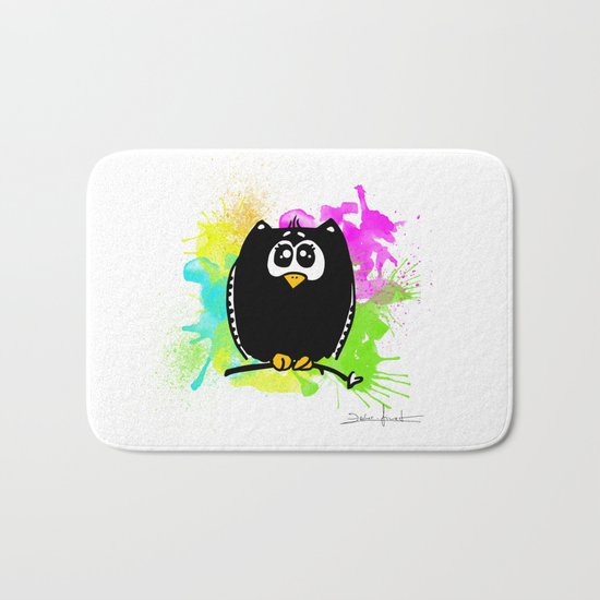 The owl without name ;) Bath Mat