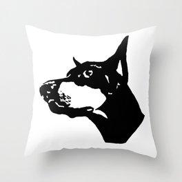 Doberman  Dog Throw Pillow