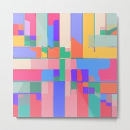 Colorful  Summer Abstract Metal Print