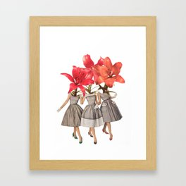 The Day Lilies Framed Art Print