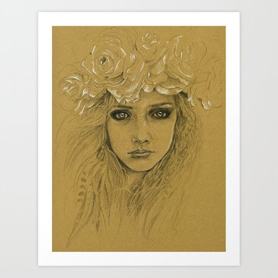 Untitled with Flowers Art Print