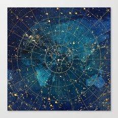 Star Map : City Lights Canvas Print