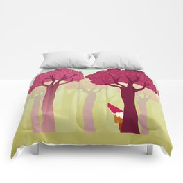 colorful forest with cute dwarf Comforters