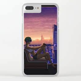 Dystopian Gamer Clear iPhone Case