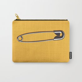 Safety Pin on Orange Carry-All Pouch