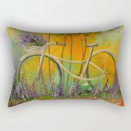 White Bicycle Rectangular Pillow