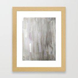 Lavender & Silver Framed Art Print