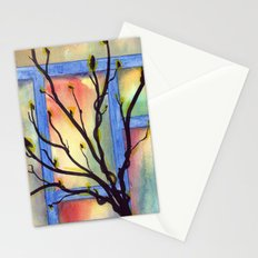 Abstract Window Stationery Cards