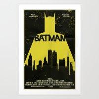 bat man Art Prints featuring Bat Man  by Mark Welser