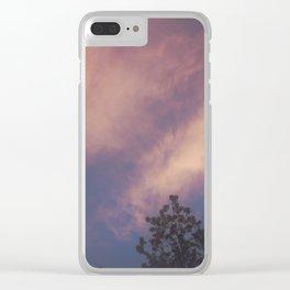 Hazy Sunset Clear iPhone Case