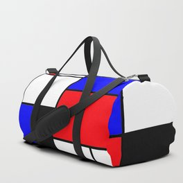 Red Blue Yellow Geometric Squares Duffle Bag