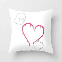 Ghostly Love Throw Pillow