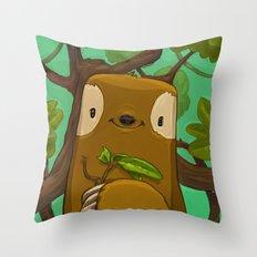 Sally the Sloth Throw Pillow