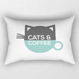 Cats and coffee Rectangular Pillow