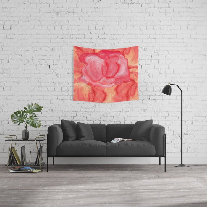Red Rose Rebel Wall Tapestry