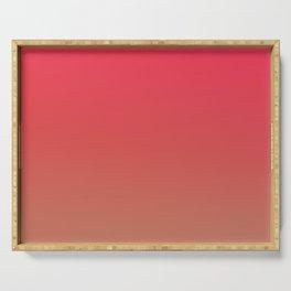 CHERRY GLOW - Minimal Plain Soft Mood Color Blend Prints Serving Tray